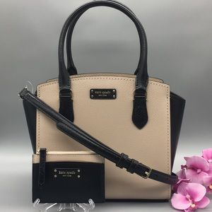 Kate Spade small satchel Jeanne & zip card holder